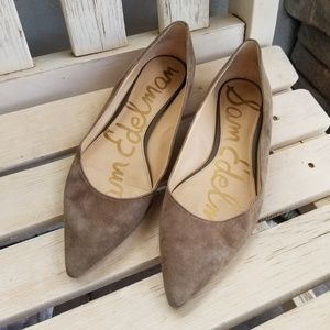 Sam Edelman Rae Pointed Toe Suede Flats